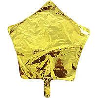 Гелиевый шар фольга золотая звезда 45см