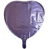 Гелиевый шар фольга серенневое сердце 45см Anagram