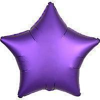 Гелиевый шар фольга фиолетовая звезда 45см Anagram