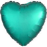 Гелиевый шар фольга бирюзовое сердце 45см Anagram