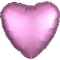 Гелиевый шар фольга розовое сердце 45см Anagram