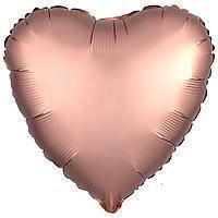 Гелиевый шар фольга бежевое сердце 45см Anagram