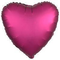 Гелиевый шар фольга малиновое сердце 45см Anagram