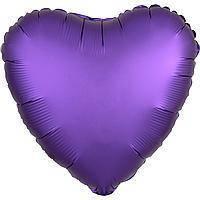 Гелиевый шар фольга фиолетовое сердце 45см Anagram