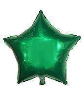 Гелієва куля фольга зелена зірка 45см Китай