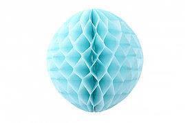 Бумажный шар соты 25см голубой