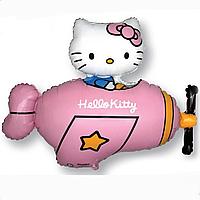 Гелієві фігури великі фольга Hello Kitty рожевий 901720