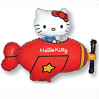 Гелиевые фигуры большие фольга Hello Kitty красный 901720