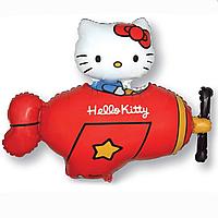 Гелієві фігури великі фольга Hello Kitty червоний 901720