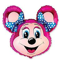 Гелиевые фигуры большие фольга лоли маус розовый 901572