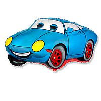 Гелиевые фигуры большие фольга голубая машина 901722
