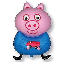 Гелієві фігури великі фольга Свинка блакитна 901728
