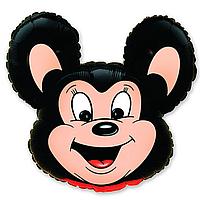 Гелиевые фигуры большие фольга черная мышка 901515