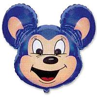 Гелиевые фигуры большие фольга синяя мышка 901515