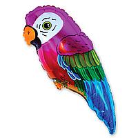 Гелиевые фигуры большие фольга попугай 901556