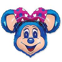 Гелиевые фигуры большие фольга синяя мышка 901647