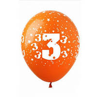 "Шары 12"" 30 см цифра ""3"""