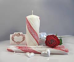 Свеча очаг набор 3шт (Куплет) красная
