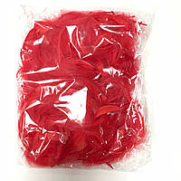 Перья 12 грамм красные (120-130)