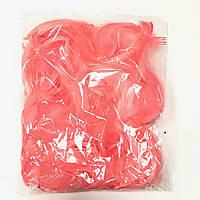 Перья 12 грамм коралловые (120-130)
