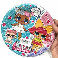 Тарелки бумажные Куклы лол 10шт.