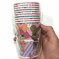 Стаканчики бумажные Куклы Лол 10шт.