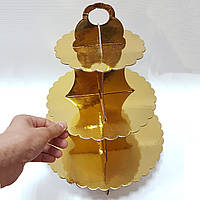 Подставка для кексов золото