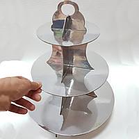 Подставка для кексов серебро
