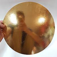 Подложка под торт 300мм серебро-золото