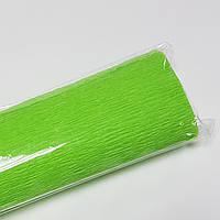 Бумага гофрированная 250*50см зеленая светлая