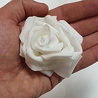 Роза головка латексная 8 см белая