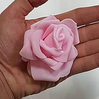 Роза головка латексна 8 см рожева