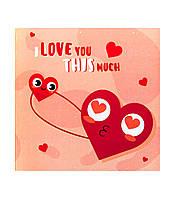 "Листівка - шоколадка ""I love you this much"""