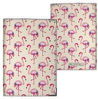 Обложка на паспорт фламинго розовый