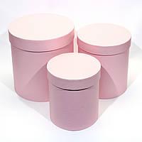 Подарочная коробка круглая розовая