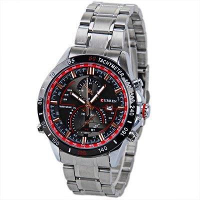 Уиллис 8149 мужские часы с календарем и два небольших украшения рук круглым циферблатом и стальным браслетом - Коричневый, фото 2