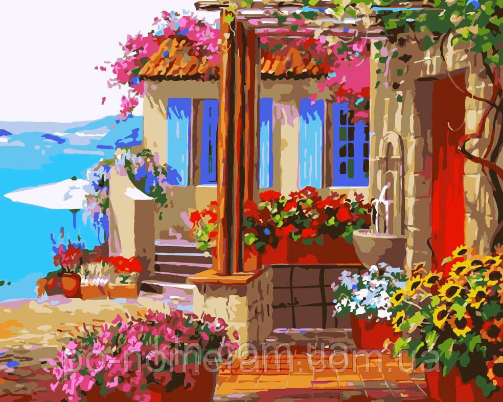 Картина по номерам Menglei MG1088 Дом мечты 2  40 х 50 см