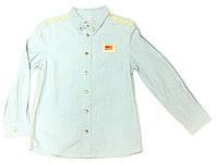 Рубашка для мальчика подростка Wielki Swiat Джинсовая  Голубая