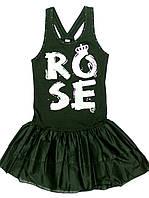 Платье для девочки-подростка Zbuntowana Roza Трикотажное Чёрное