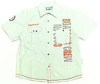 Рубашка для мальчика подростка Zaloga Pokladowa 1 Голубая Клетка