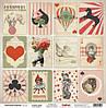 Бумага для скрапбукинга Старый цирк Волшебная колода 30,5*30,5 180г/м2
