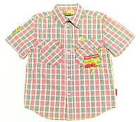 Рубашка для мальчика  Socjalne Zo 1 К\Р Клетка