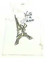 Майка для девочки-подростка Wizyta W Paryzu Белая 1