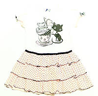Платье для девочки Mam Cie! Трикотажное Белое