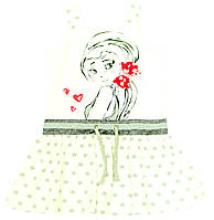 Платье для девочки Hustawka Трикотажное Кремовое
