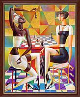 Репродукция  современной картины Г. Курасова (РФ)  «Шах» 28 х 35 см
