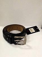 Ремень мужской кожаный Pierre Cardin черный