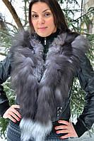 Кожанная куртка с мехом чернобурки, фото 1