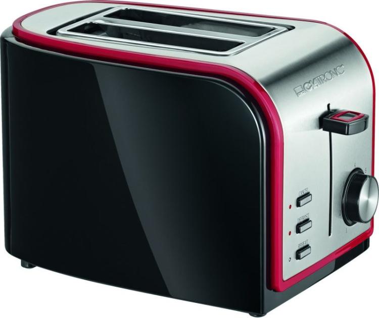 Тостер Clatronic TA 3557 черно-красный Германия