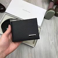 Кожаный мужской комплект Calvin Klein черный кошелек портмоне ремень из натуральной  кожи Кельвин Кляйн реплика 7303e225551ec